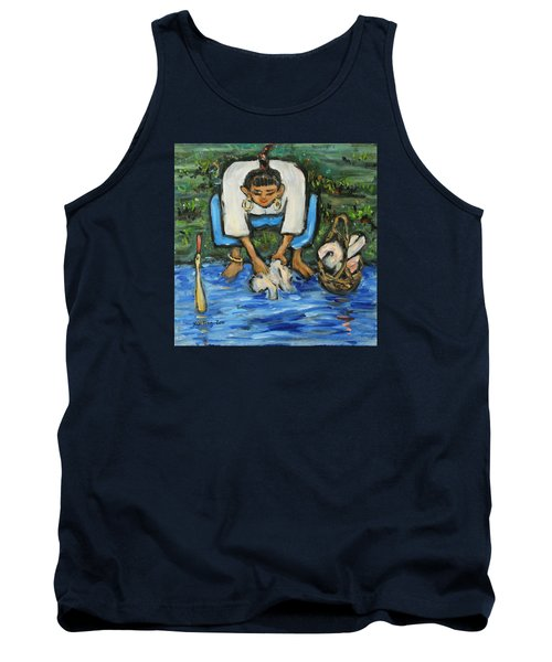 Tank Top featuring the painting Laundry Girl by Xueling Zou