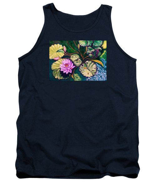 Lavender Lotus Flower Tank Top