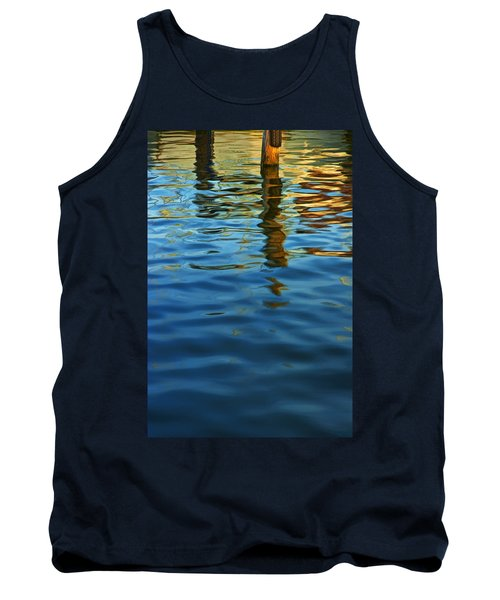 Light Reflections On The Water By A Dock At Aransas Pass Tank Top