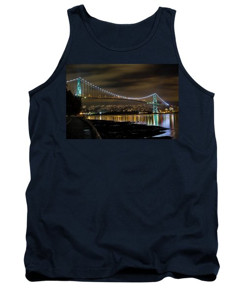 Lions Gate Bridge At Night Tank Top
