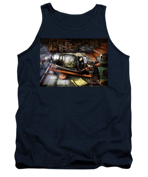 Little Mouse And The Moon Tank Top by Alessandro Della Pietra
