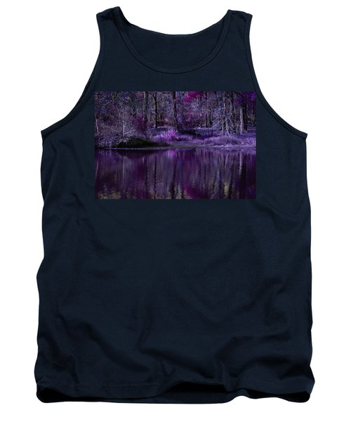 Living In A Purple Dream Tank Top by Linda Unger