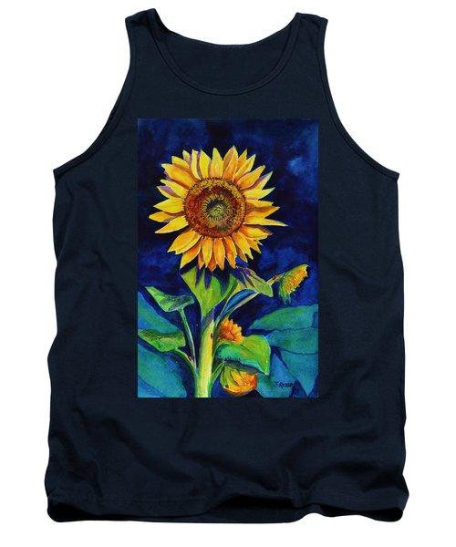 Midnight Sunflower Tank Top