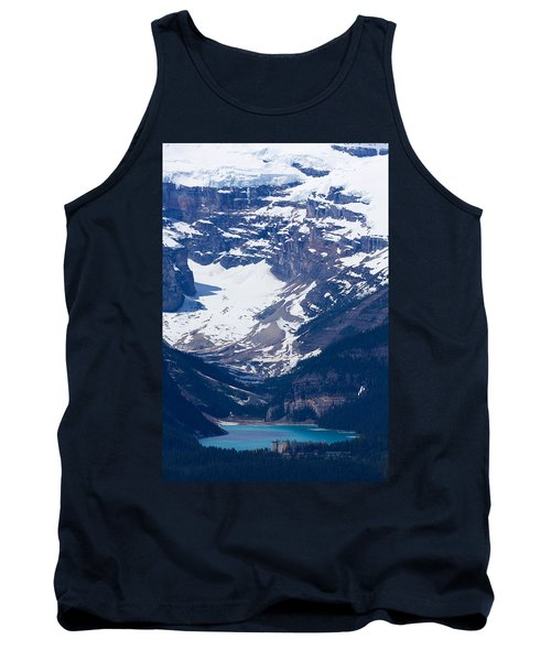 Looking Down At Lake Louise #2 Tank Top