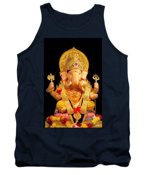 Lord Ganesha Tank Top by Kiran Joshi