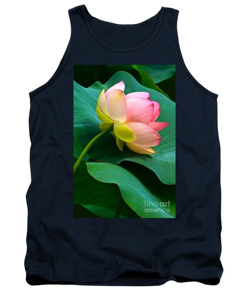 Lotus Blossom And Leaves Tank Top