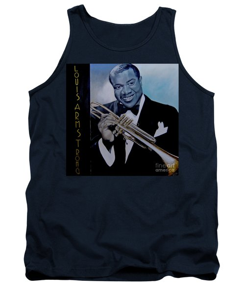 Louis Armstrong Tank Top by Chelle Brantley