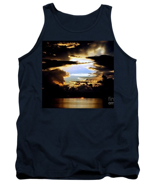 Tank Top featuring the photograph Louisiana Sunset Blue In The Gulf  Of Mexico by Michael Hoard