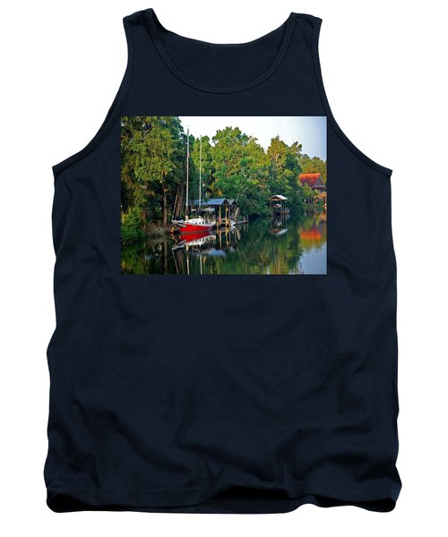 Magnolia Red Boat Tank Top