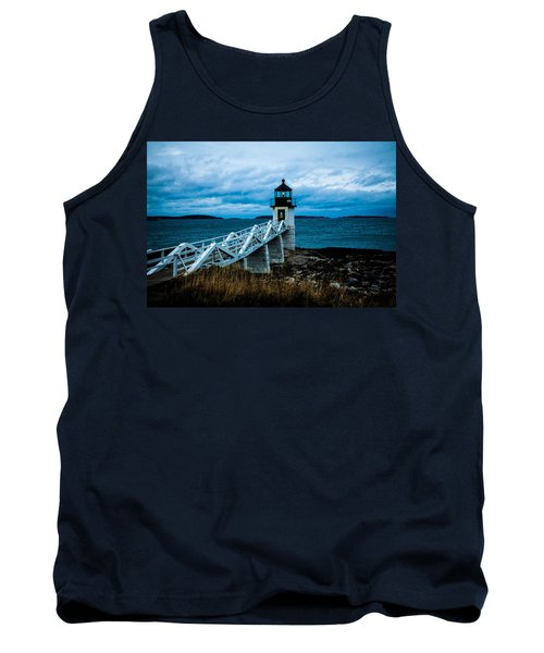 Marshall Point Light At Dusk 2 Tank Top