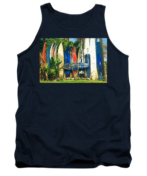 Maui Surfboard Fence - Peahi Hawaii Tank Top