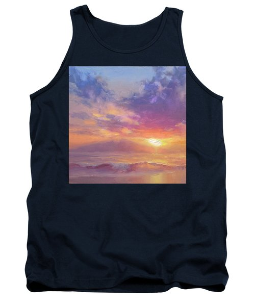 Coastal Hawaiian Beach Sunset Landscape And Ocean Seascape Tank Top