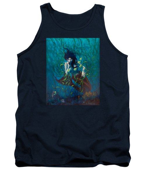 Tank Top featuring the painting Mermaid by Rob Corsetti