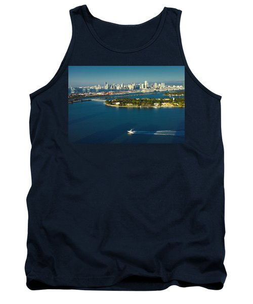 Miami City Biscayne Bay Skyline Tank Top