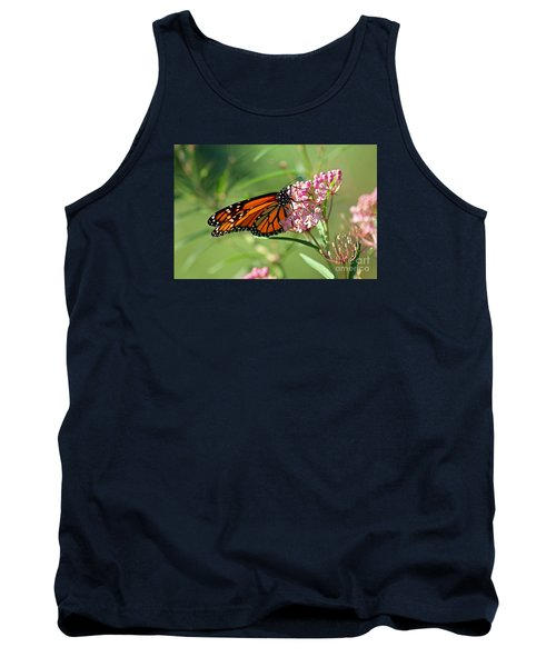 Monarch Butterfly On Milkweed Tank Top