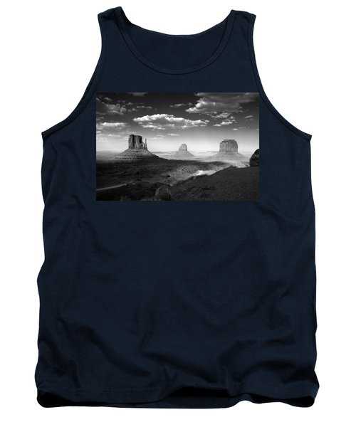 Monument Valley In Black And White Tank Top