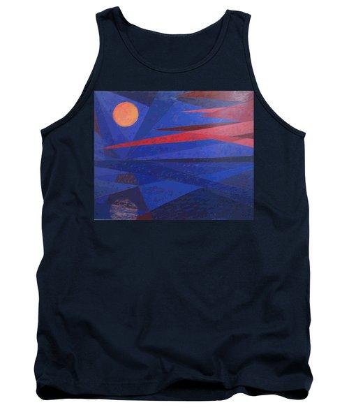 Moon Reflecting On A Lake Tank Top by Walter Casaravilla