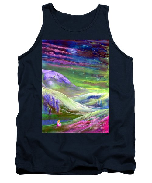 Tank Top featuring the painting Moon Shadow by Jane Small