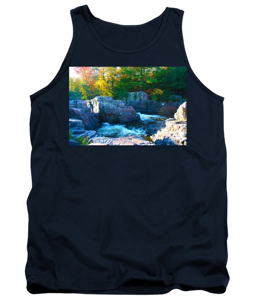 Morning In Eau Claire Dells Tank Top by Tiffany Erdman