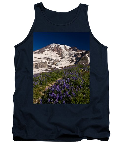 Mount Rainier Wildflower Meadows Tank Top