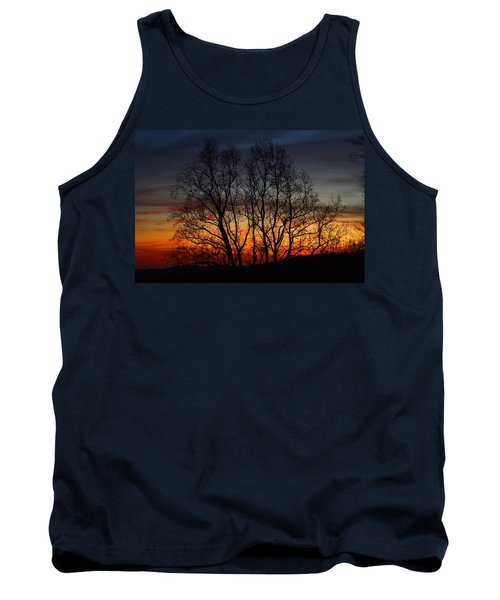 Tank Top featuring the photograph Mountain Sunset by Kathryn Meyer