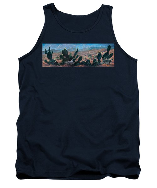 Tank Top featuring the painting Mourning Dove Desert Sands by Rob Corsetti