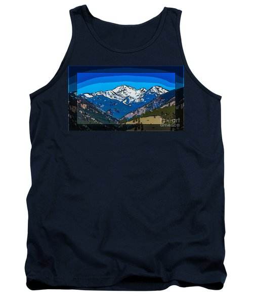 Mt Gardner In The Spring Abstract Painting  Tank Top