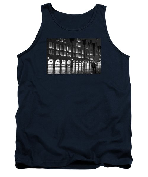 Cobblestone Night Walk In The Town Tank Top by Miguel Winterpacht