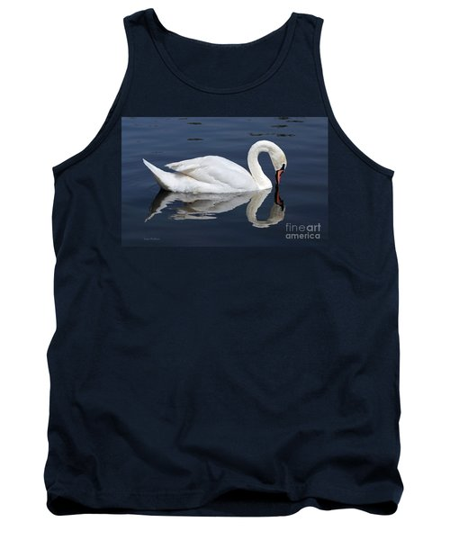 Tank Top featuring the photograph Mute Swan Kissing Its Reflection by Susan Wiedmann