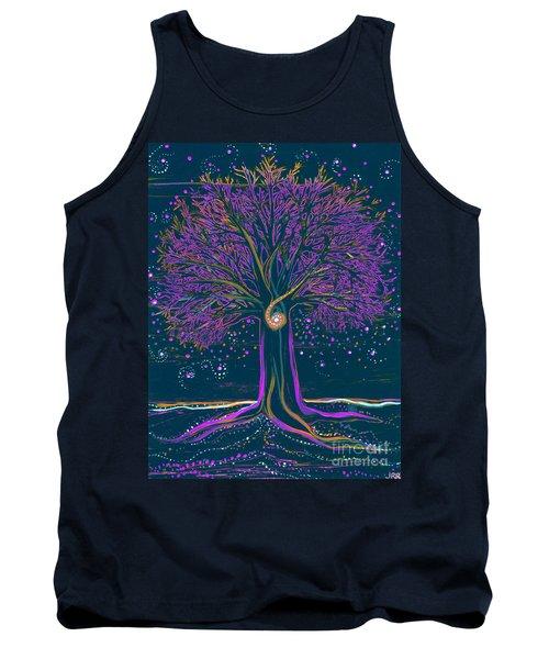 Mystic Spiral Tree 1 Purple Tank Top