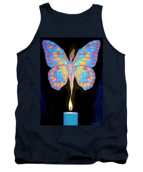 Naked Butterfly Lady Transformation Tank Top