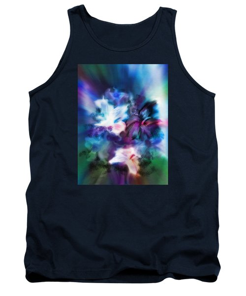 Tank Top featuring the digital art New Bouquet by Frank Bright