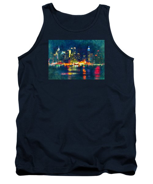 New York State Of Mind Abstract Realism Tank Top
