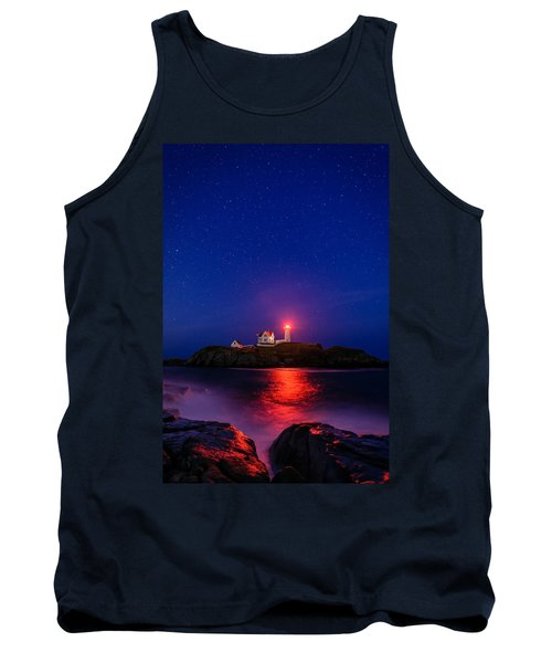 Night At Nubble Light Tank Top