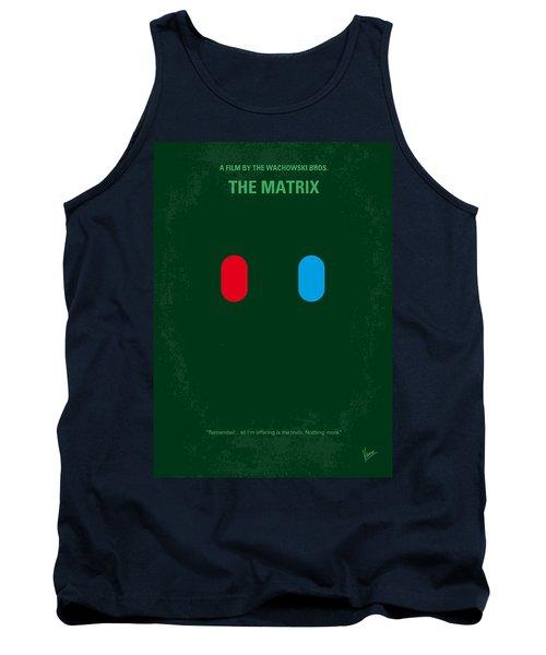 No117 My Matrix Minimal Movie Poster Tank Top
