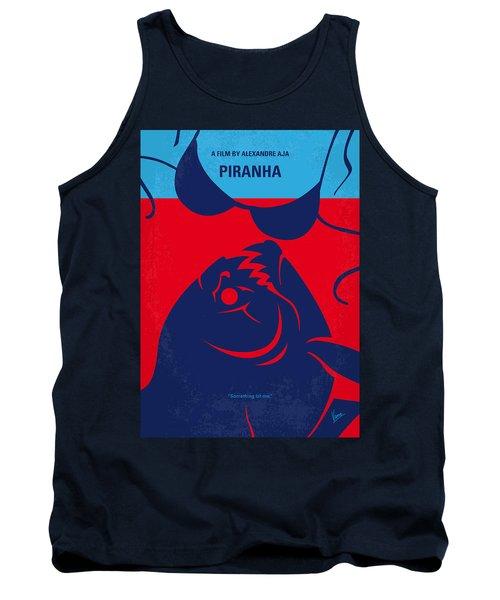 No433 My Piranha Minimal Movie Poster Tank Top