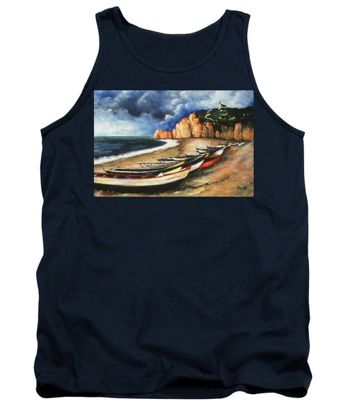 Normandy Coast - Landscape Oil Tank Top