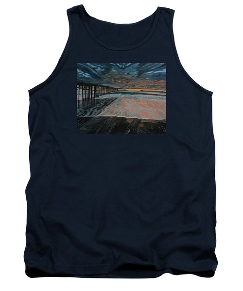 North Side Of The Ventura Pier Tank Top by Ian Donley