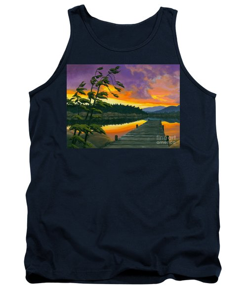 After Glow - Oil / Canvas Tank Top by Michael Swanson