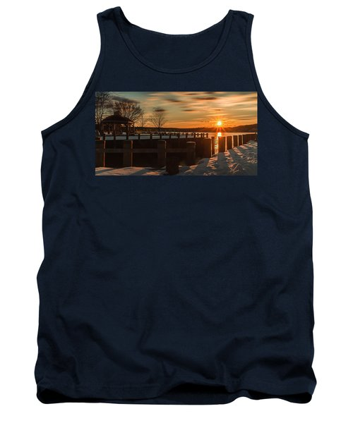 Northport New York Winter Sunset Tank Top