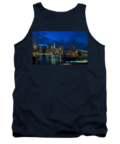 Ny Skyline From Brooklyn Heights Promenade Tank Top by Mitchell R Grosky
