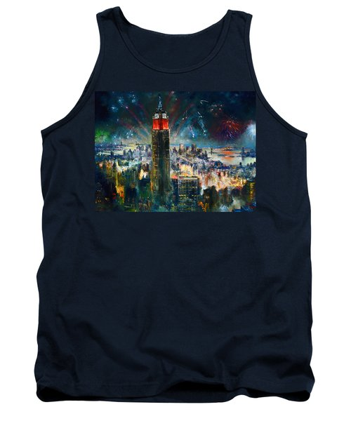 Nyc In Fourth Of July Independence Day Tank Top by Ylli Haruni