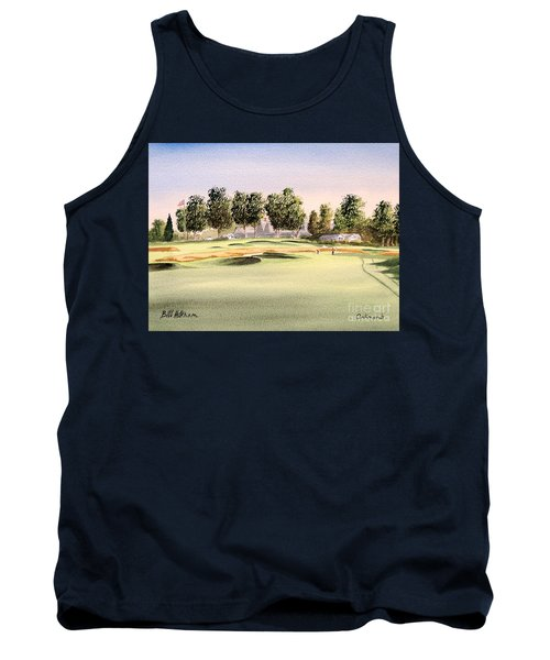 Tank Top featuring the painting Oakmont Golf Course 14th by Bill Holkham