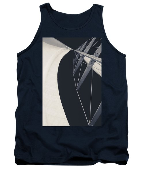 Obsession Sails 9 Black And White Tank Top