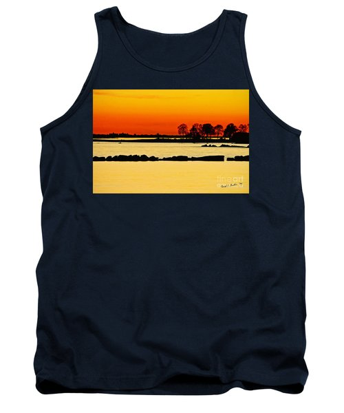 Orange Sunset Tank Top by Carol F Austin
