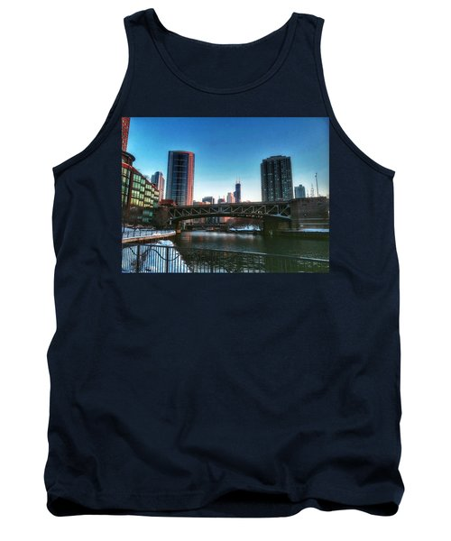 Ohio Street Bridge Over Chicago River Tank Top