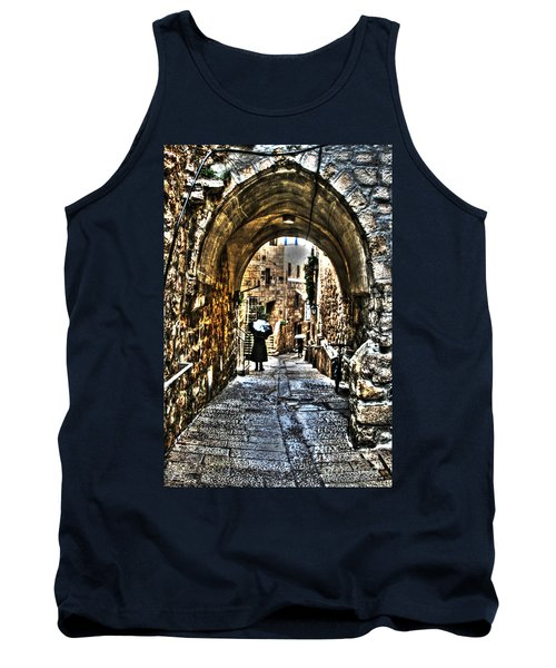 Tank Top featuring the photograph Old Street In Jerusalem by Doc Braham