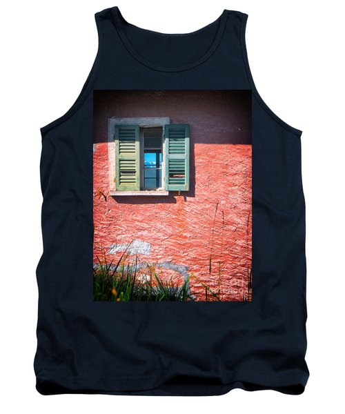 Tank Top featuring the photograph Old Window With Reflection by Silvia Ganora