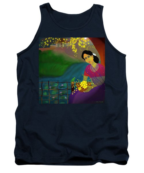 On The Eve Of Golden Shower Festival Tank Top by Latha Gokuldas Panicker