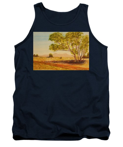 Tank Top featuring the painting On The Road To Broken Hill Nsw Australia by Tim Mullaney